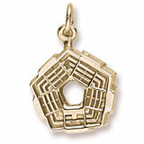 10K Gold Pentagon Charm by Rembrandt Charms