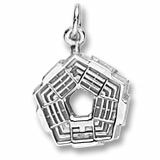 Sterling Silver Pentagon Charm by Rembrandt Charms