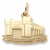 10K Gold Old Slave Market Building Charm by Rembrandt Charms