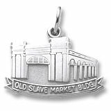 Sterling Silver Old Slave Market Building Charm by Rembrandt Charms
