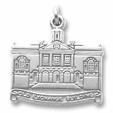 14K White Gold Old Exchange Building Charm by Rembrandt Charms