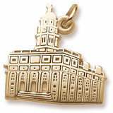 10K Gold South Carolina Temple Charm by Rembrandt Charms