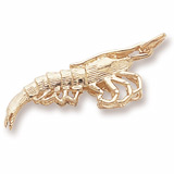 14K Gold Shrimp Charm by Rembrandt Charms