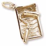 10K Gold Paint Tray and Roller Charm by Rembrandt Charms
