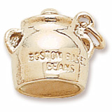Gold Plate Boston Baked Beans Charm by Rembrandt Charms