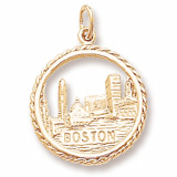10K Gold Boston Skyline Charm by Rembrandt Charms