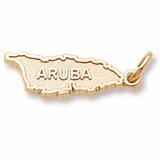 Gold Plated Aruba Charm by Rembrandt Charms