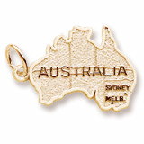 Gold Plated Australia Map Charm by Rembrandt Charms