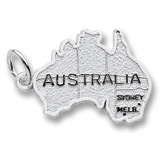 Sterling Silver Australia Map Charm by Rembrandt Charms