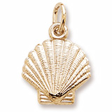 14K Gold Clamshell Charm by Rembrandt Charms