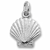 Sterling Silver Clamshell Charm by Rembrandt Charms
