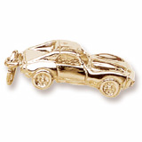 Gold Plated Sports Car Charm by Rembrandt Charms