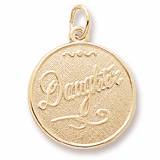 Gold Plated Daughter Charm by Rembrandt Charms