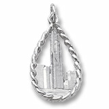 14K White Gold Chicago Sears Tower Charm by Rembrandt Charms