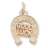 10K Gold Las Vegas Good Luck Charm by Rembrandt Charms