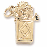 10K Gold Jack In The Box Charm by Rembrandt Charms
