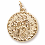 14k Gold Grown Up 12 Birthday Charm by Rembrandt Charms