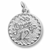 Sterling Silver Grown Up 12 Birthday by Rembrandt Charms