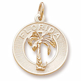 10k Gold Florida Palm Tree Charm by Rembrandt Charms