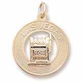 10k Gold Las Vegas Charm by Rembrandt Charms