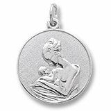 14k White Gold Mother and Baby Charm by Rembrandt Charms