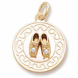 Gold Plated Baby Shoe Charm by Rembrandt Charms