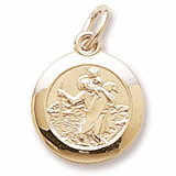 14K Gold Saint Christopher Charm by Rembrandt Charms