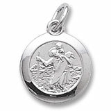 Sterling Silver Saint Christopher Charm by Rembrandt Charms