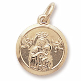 Gold Plate Madonna and Child Accent Charm by Rembrandt Charms