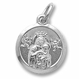 Sterling Silver Madonna and Child Accent Charm by Rembrandt Charms