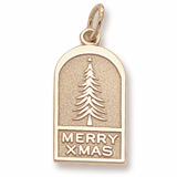 10K Gold Christmas Tree Ornament by Charm Rembrandt Charms