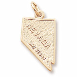 10K Gold Las Vegas Nevada Charm by Rembrandt Charms