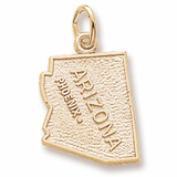 Gold Plated Phoenix Arizona Charm by Rembrandt Charms