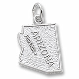 14K White Gold Phoenix Arizona Charm by Rembrandt Charms