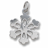 Sterling Silver Snowflake Charm by Rembrandt Charms