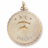 Gold Plated Pisces Constellation Charm by Rembrandt Charms
