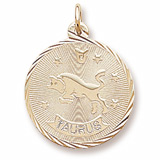 10K Gold Taurus Constellation Charm by Rembrandt Charms