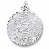 Sterling Silver Gemini Constellation Charm by Rembrandt Charms
