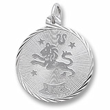 14K White Gold Leo Constellation Charm by Rembrandt Charms