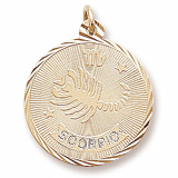 Gold Plated Scorpio Constellation Charm by Rembrandt Charms