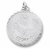 14K White Gold Scorpio Constellation Charm by Rembrandt Charms