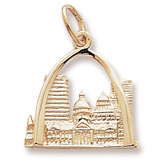 Gold Plate St. Louis, MO. Skyline Charm by Rembrandt Charms