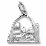 14K White Gold St. Louis, MO. Skyline Charm by Rembrandt Charms