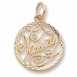 Gold Plate Nassau Faceted Charm by Rembrandt Charms