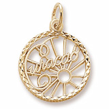 14K Gold Curacao Faceted Charm by Rembrandt Charms