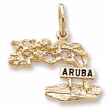 10K Gold Aruba Cypress Tree Charm by Rembrandt Charms