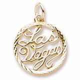 Gold Plate Las Vegas Faceted Charm by Rembrandt Charms