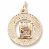 Gold Plated Atlantic City Slots Ring Charm by Rembrandt Charms