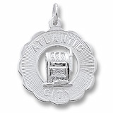 14K White Gold Atlantic City Slots Charm by Rembrandt Charms