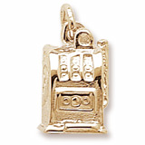 Gold Plate Slot Machine Charm by Rembrandt Charms